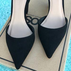 ASOS SPEAKER Pointed black heels
